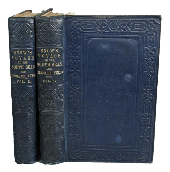 A Two Years Cruise off Tierra del Fuego Vol. 1 - Book Display (I) (1857)