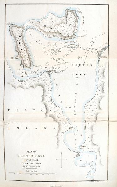 A Two Years Cruise off Tierra del Fuego Vol. 1 - Plan of Banner Cove, Picton Island, Tierra del Fuego (1857)