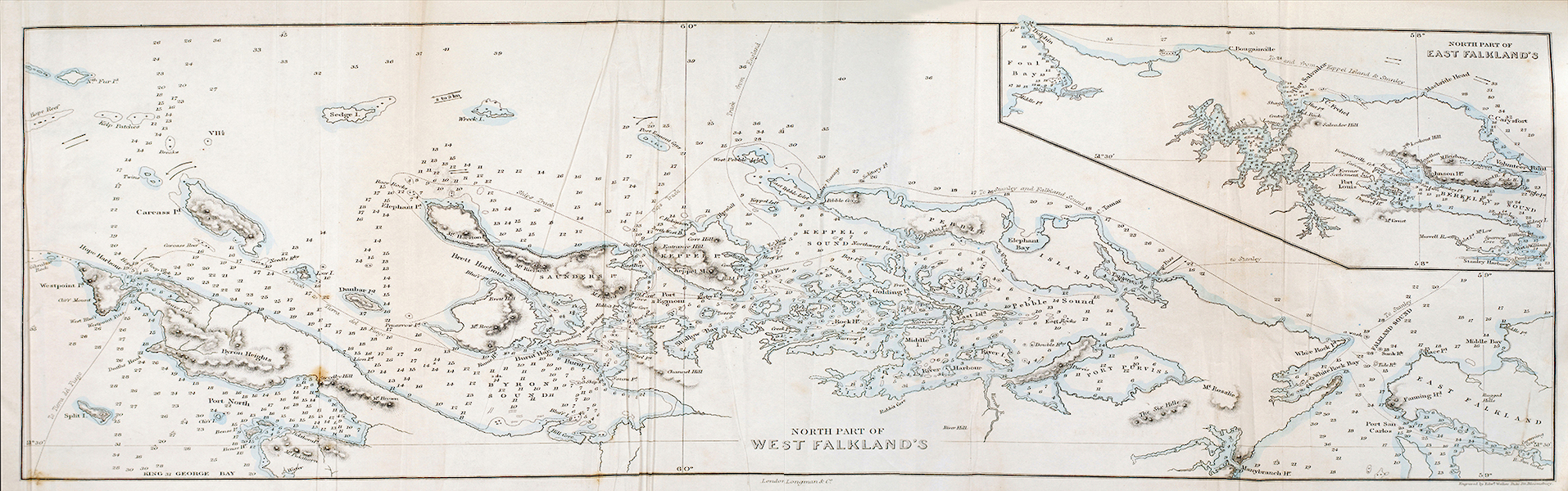 A Two Years Cruise off Tierra del Fuego Vol. 1 - North Part of West Falkland (1857)