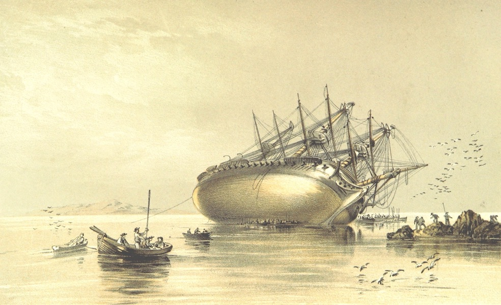 A Visit to the Indian Archipelago, in H.M.S. Maeander - Ship on Shore (1853)