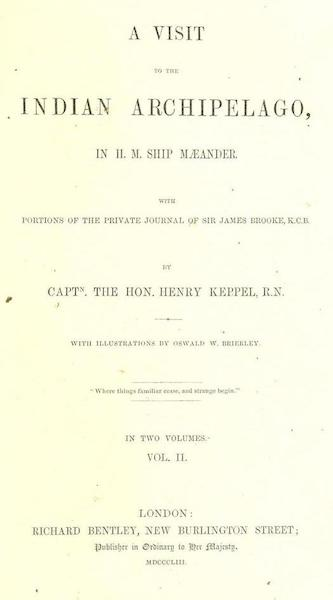 A Visit to the Indian Archipelago, in H.M.S. Maeander - Title Page - Volume II (1853)
