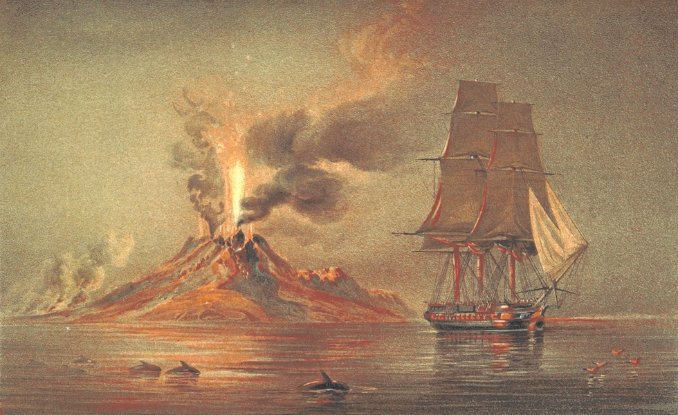 A Visit to the Indian Archipelago, in H.M.S. Maeander - Volcanic Mountain, Comba Island (1853)