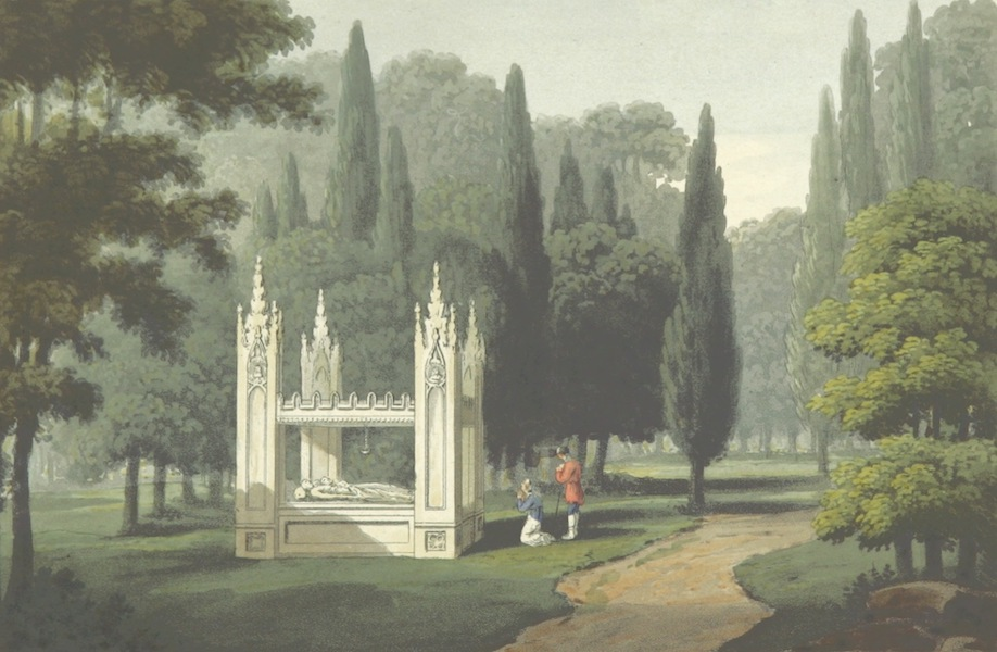 A Visit to the Monastery of La Trappe - Tomb of Abelard and Heloise (1818)