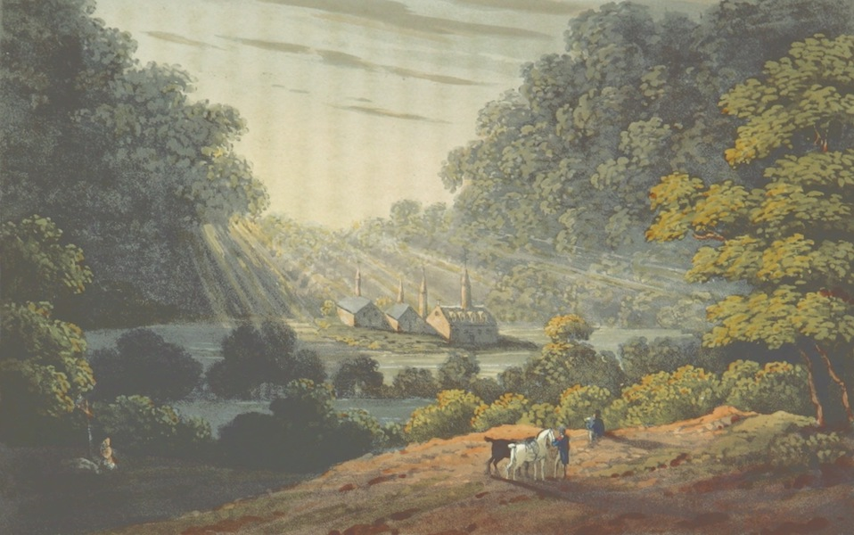 A Visit to the Monastery of La Trappe - View of the Monastery of La Trappe (1818)
