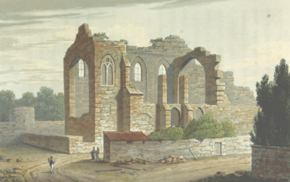 A Visit to the Monastery of La Trappe - Ruins of the Ancient Church of La Trappe (1818)