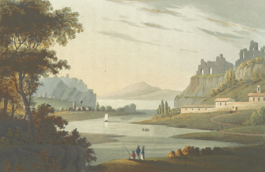 A Visit to the Monastery of La Trappe - View of St. Florent (1818)