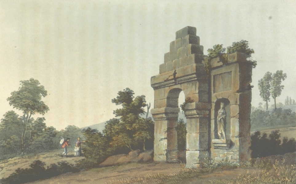A Visit to the Monastery of La Trappe - Ruins of the Gateway of the Ancient Chartreuse (1818)