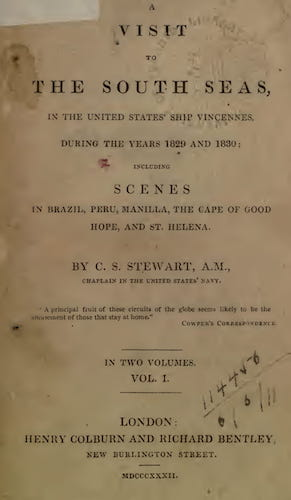 University of Toronto - A Visit to the South Seas, in the United States Ship Vincennes Vol. 2
