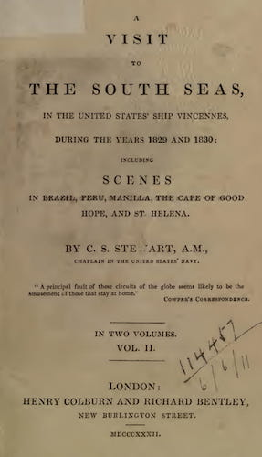 English - A Visit to the South Seas, in the United States Ship Vincennes Vol. 2