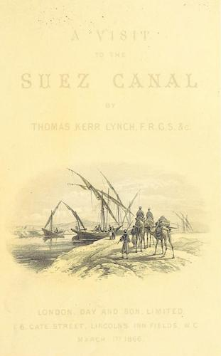 Aquatint & Lithography - A Visit to the Suez Canal