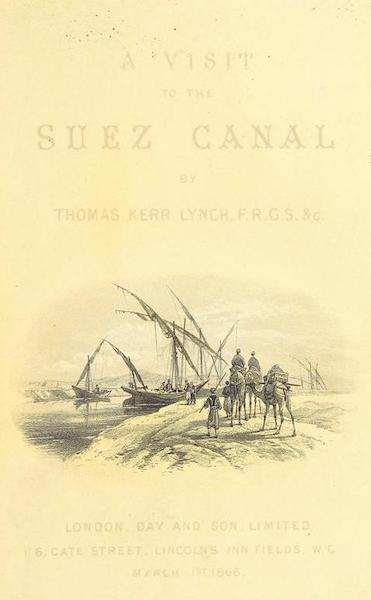 A Visit to the Suez Canal - Illustrated Title Page (1866)