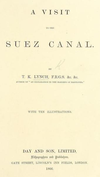 A Visit to the Suez Canal - Title Page (1866)