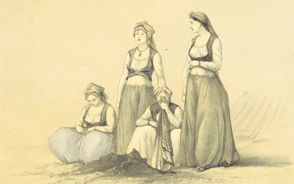 A Visit to the Suez Canal - Almeh or Dancing Women at Serapium (1866)