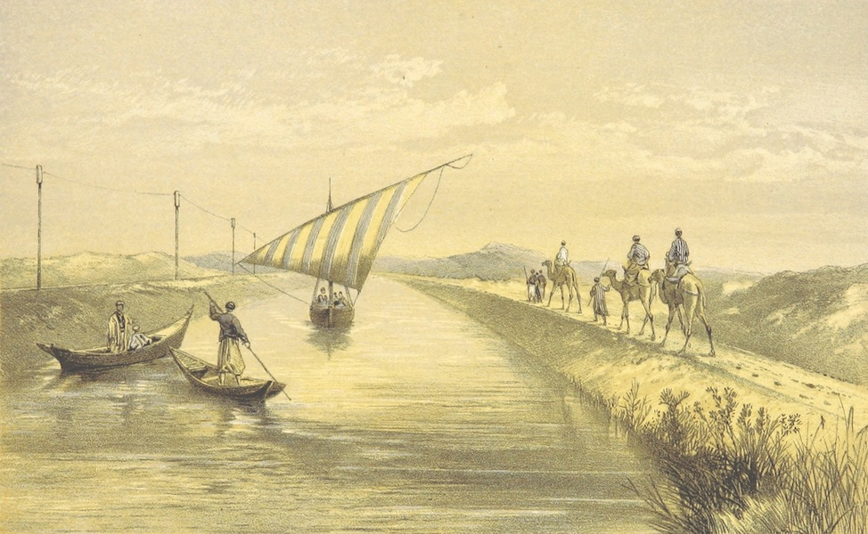 A Visit to the Suez Canal - The Sweet-Water Canal at the Head of Lake Ameer (1866)