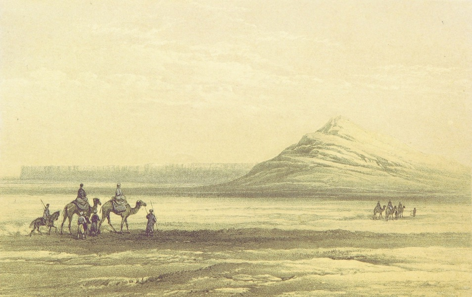 A Visit to the Suez Canal - The Mountain of Genefee from Canal (1866)