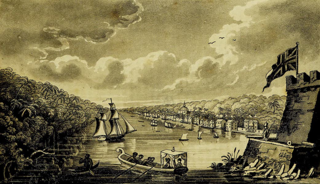 A Voyage in the West Indies - City of Paramaribo, Surinam (1820)