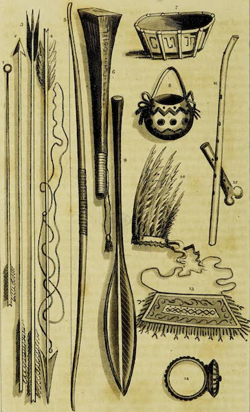 A Voyage in the West Indies - Indian Implements (1820)