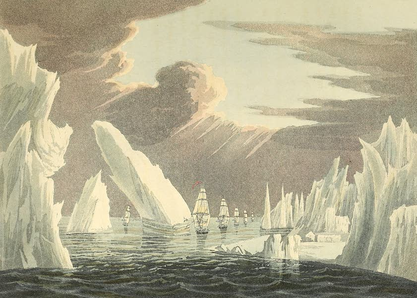A Voyage of Discovery - Passage Through the Ice - June 16th, 1818 (1819)