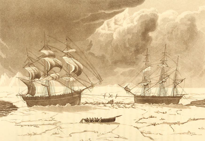 A Voyage of Discovery - Perilous situation of the Isabella and Alexander, Aug 7th, 1818. (1819)