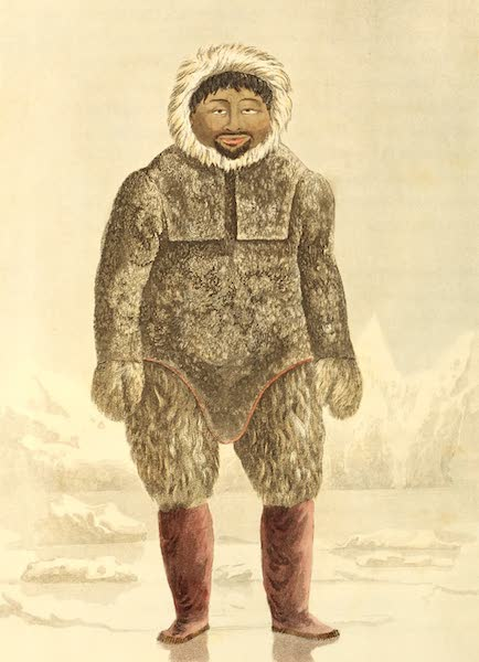A Voyage of Discovery - Arctic Highlander / Ervick, a Native of Prince Regents Bay. Lat. 76.12. N. Long. 65. W. (1819)