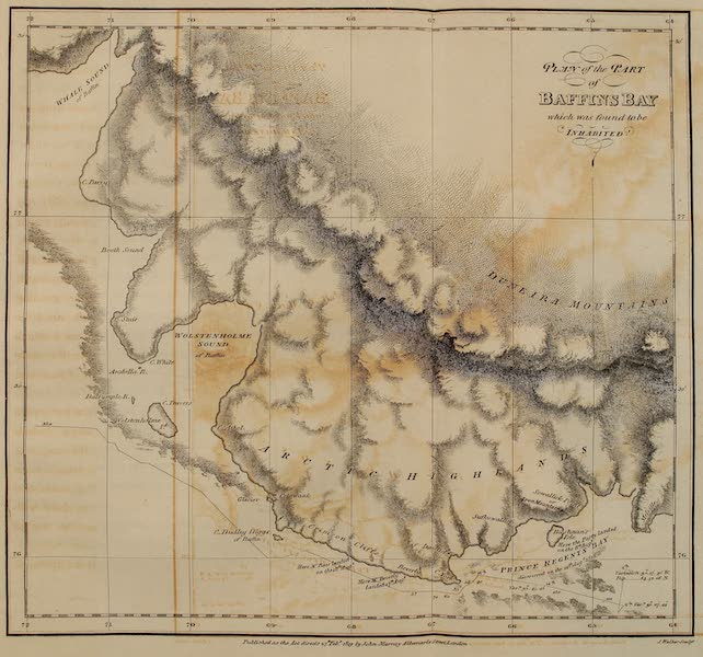 A Voyage of Discovery - Plan of the Part of Baffins Bay which was found to be Inhabited (1819)