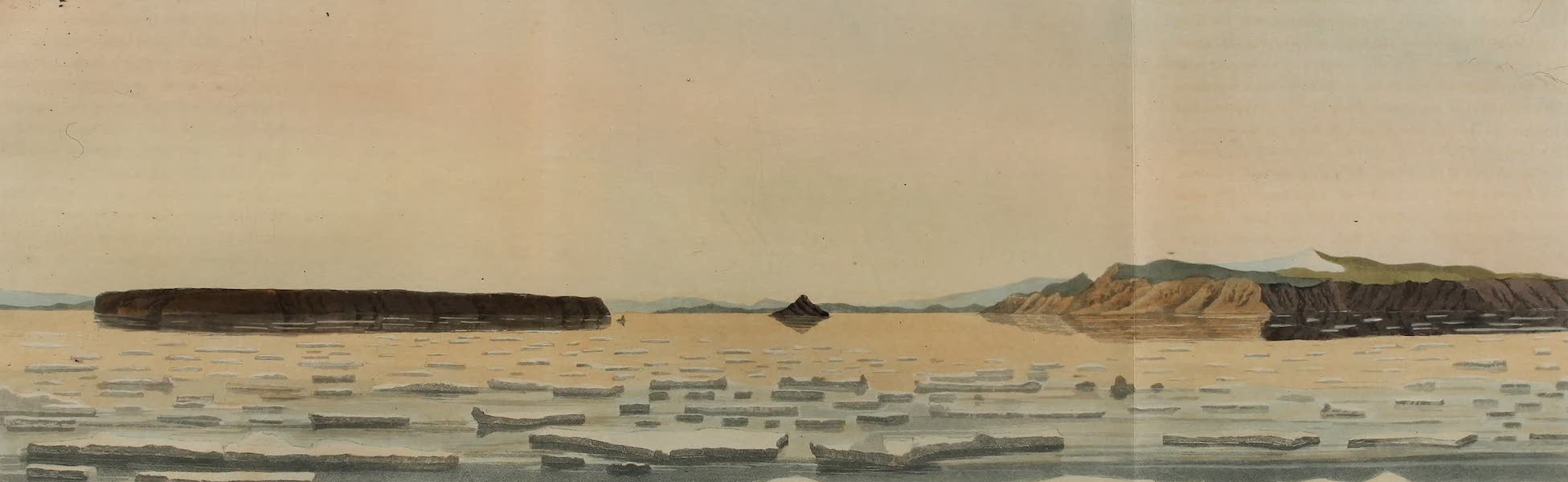 A Voyage of Discovery - View of the Islands in Wolstenholme Sound (1819)