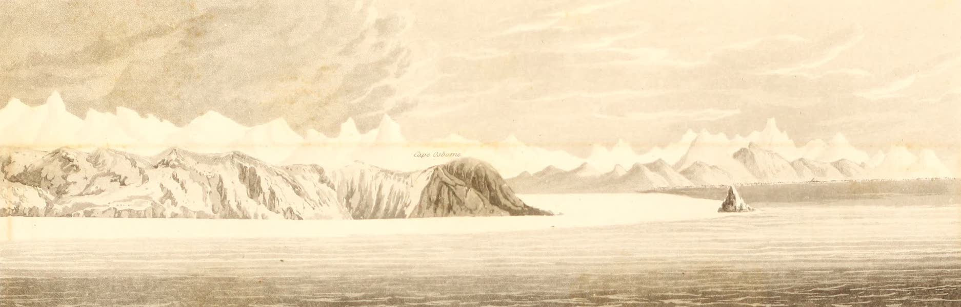A Voyage of Discovery - Sir George Hope's Monument and Land, on the North side of Lancaster Bay (1819)