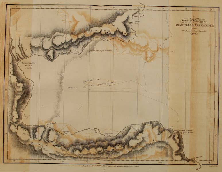 A Voyage of Discovery - Track of H.M. Ships Isabella and Alexander (1819)