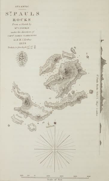A Voyage of Discovery and Research in the Southern and Antarctic Regions Vol. 1 - St. Paul's Rocks (Map) (1847)
