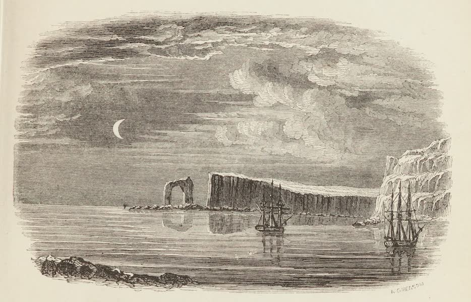 A Voyage of Discovery and Research in the Southern and Antarctic Regions Vol. 1 - Entrance to Christmas Harbour (1847)