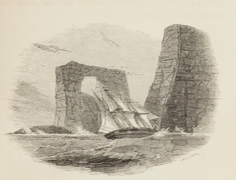 A Voyage of Discovery and Research in the Southern and Antarctic Regions Vol. 1 - Arched Rock, Christmas Harbour (1847)