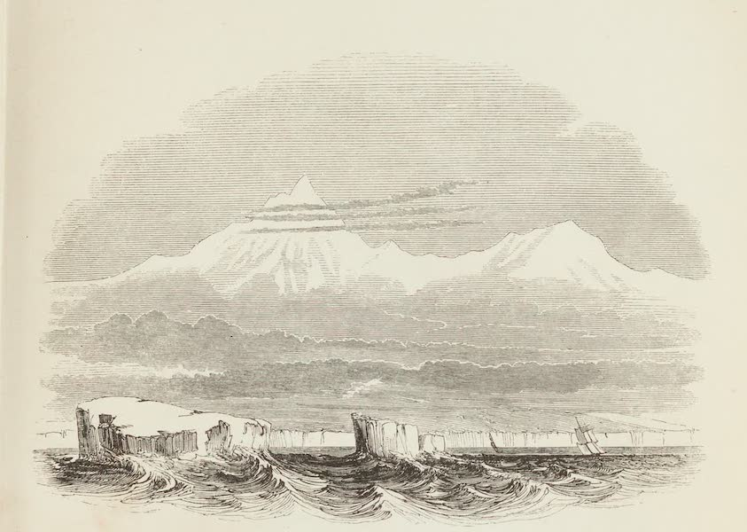 A Voyage of Discovery and Research in the Southern and Antarctic Regions Vol. 1 - Mount Minto and Mount Adam (1847)