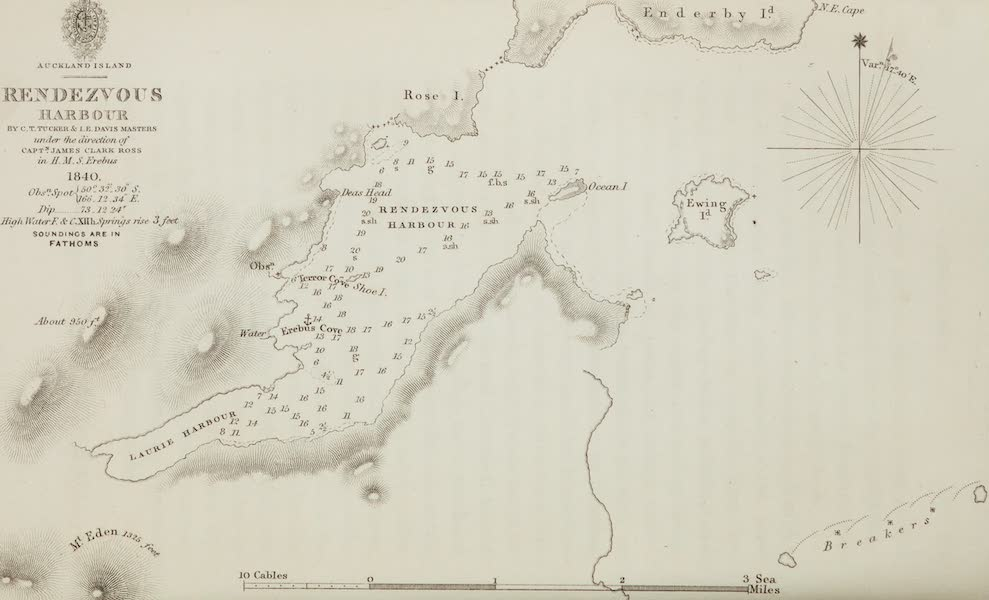 A Voyage of Discovery and Research in the Southern and Antarctic Regions Vol. 1 - Rendezvous Harbour (Map) (1847)