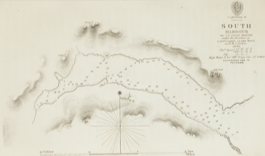 A Voyage of Discovery and Research in the Southern and Antarctic Regions Vol. 1 - South or Perseverance Harbour (Map) (1847)