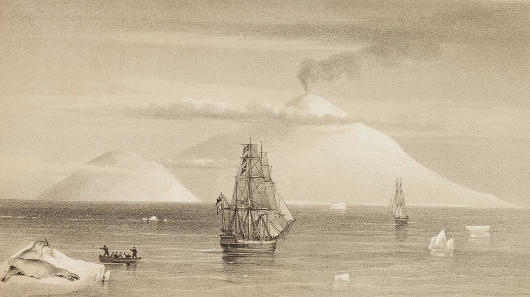 A Voyage of Discovery and Research in the Southern and Antarctic Regions Vol. 1 - Beaufort Island and Mount Erebus (1847)