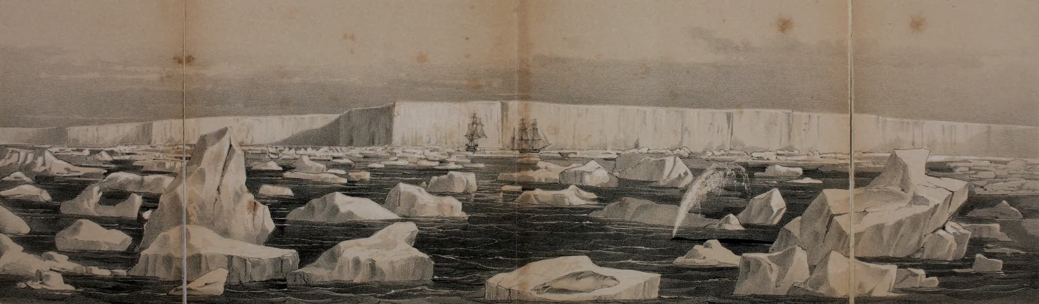 A Voyage of Discovery and Research in the Southern and Antarctic Regions Vol. 1 - South Polar Barrier (1847)
