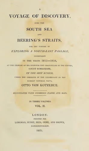 English - A Voyage of Discovery, into the South Sea and Beering's Straits Vol. 2