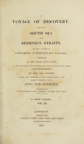 Aquatint & Lithography - A Voyage of Discovery, into the South Sea and Beering's Straits Vol. 3
