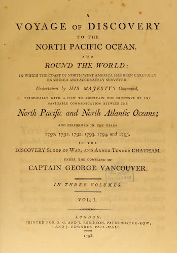 Aquatint & Lithography - A Voyage of Discovery to the North Pacific Ocean Vol. 1