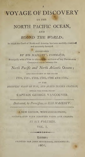 English - A Voyage of Discovery to the North Pacific Ocean Vol. 1