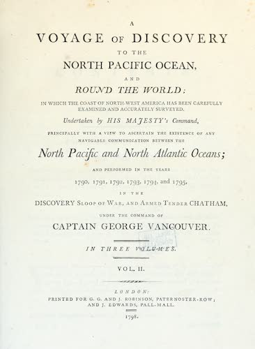 Aquatint & Lithography - A Voyage of Discovery to the North Pacific Ocean Vol. 2