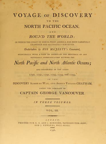Aquatint & Lithography - A Voyage of Discovery to the North Pacific Ocean Vol. 3