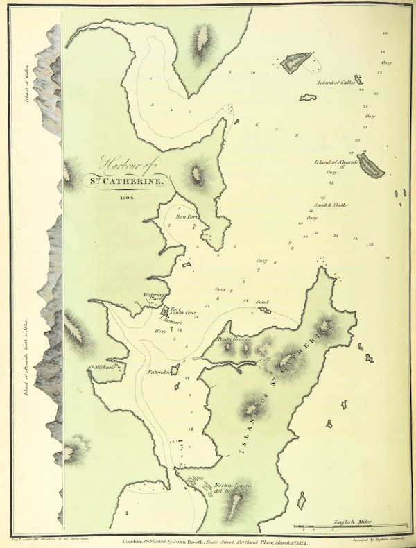 A Voyage Round the World - Harbour of St. Catherine - 1804 (1814)