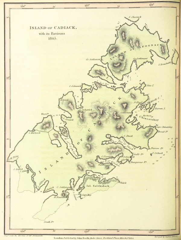 A Voyage Round the World - Island of Cadiak with its Environs - 1805 (1814)