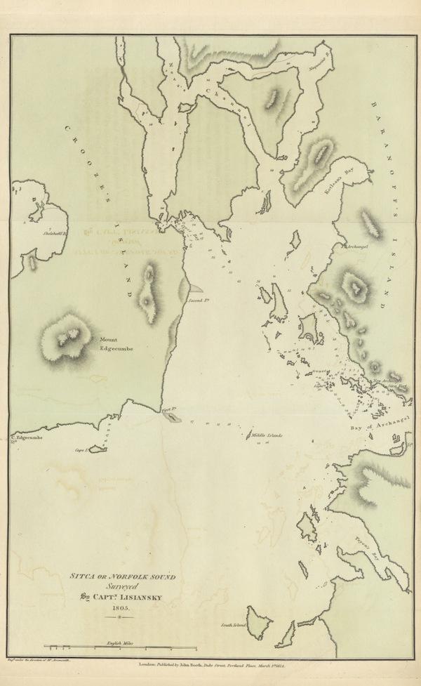 A Voyage Round the World - Sitca or Norfolk Sound Surveyed by Captn Lisiansky - 1805 (1814)