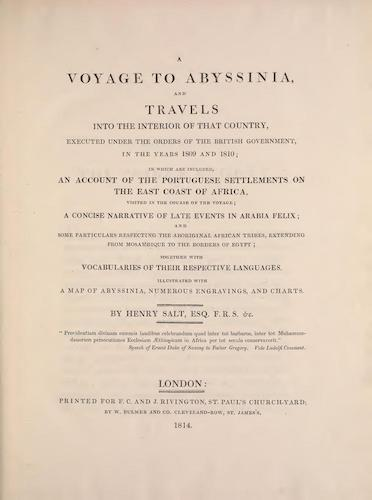 English - A Voyage to Abyssinia