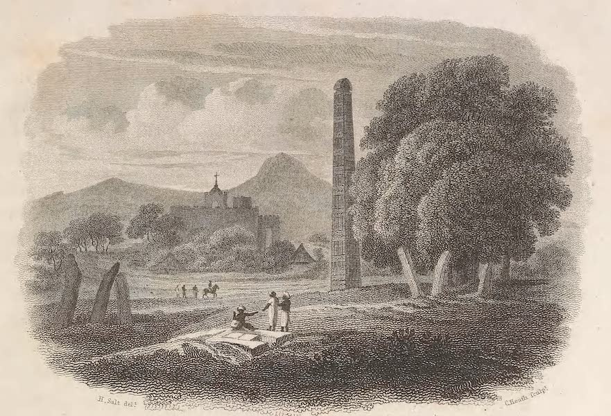 A Voyage to Abyssinia - View of the Obelisk and Church at Axum (1814)