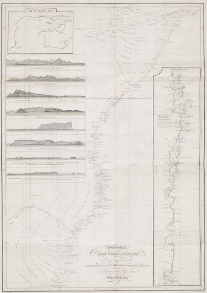 A Voyage to Abyssinia - A General Chart of the East Coast of Africa (1814)