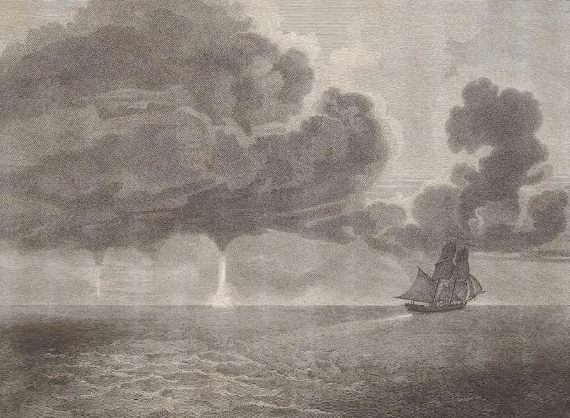 A Voyage to Abyssinia - Water Spouts Seen in the Mozambique Channel (1814)
