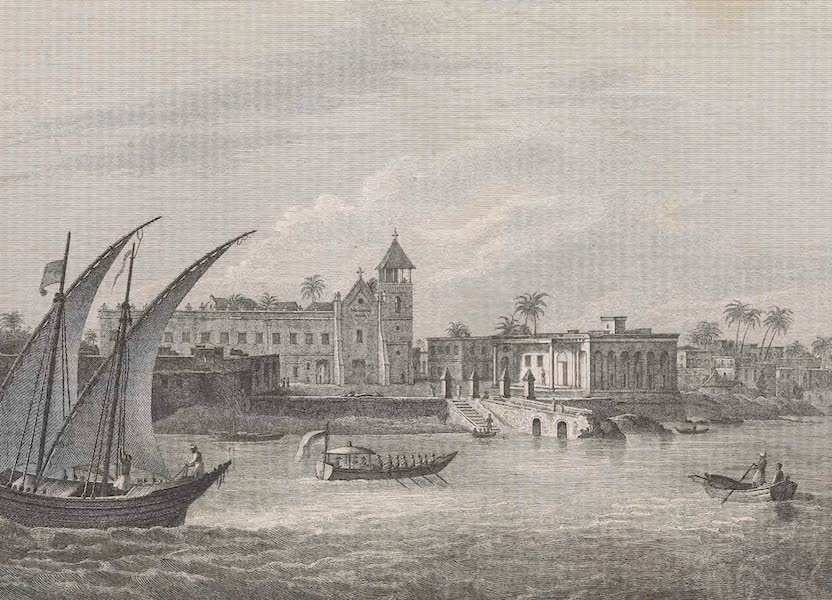 A Voyage to Abyssinia - View of the Government House on the Island of Mozambique (1814)